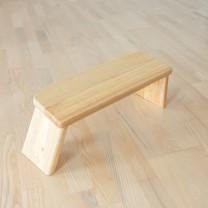 Meditations skammel med folde ben gummitræ