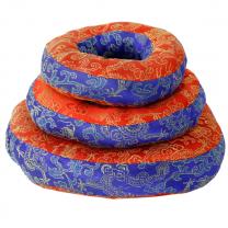 Pude til syngeskål - blå/rød - 12x3 cm