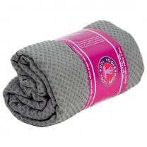 Skridfast yoga håndklæde/underlag grå