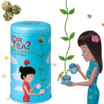 Or tea-grøn te med morgenfrue blomster