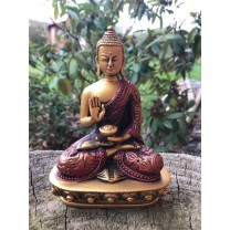 Buddha rød/gylden