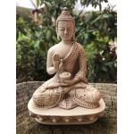 Hvid Buddha No fear Mudra