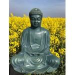 Stor Buddha statue i jadegrøn