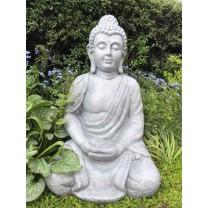 Stor grå Buddha 62 cm