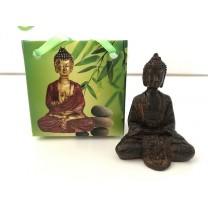 Lille Buddha figur i flot gavepose - variant O