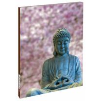 Notesbog med smilende Buddha