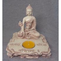 Buddha med fyrfadslys