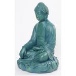 Stor jadegrøn Buddha 53 cm