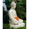 Stor Buddha i antikhvid 53cm