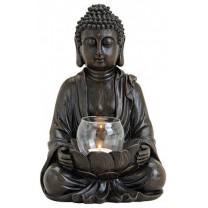 Buddha med glasskål