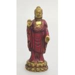 Stående Buddha guld / rød