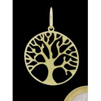 Livets træ vedhæng i guld