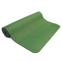 TPE yogamåtte i grøn / grå