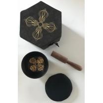 Lille Syngeskål sæt m. kølle og pude