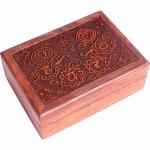 Kort box med de syv Chakras
