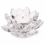 Lotus krystal Lysestage