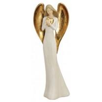 Engel figur m hjerte 41 cm