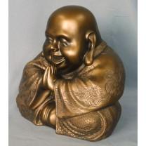 Happy Buddha 20 cm Bronze