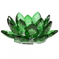 Lotus krystal Lysestage grøn