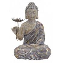 Buddha med blomst i hånden