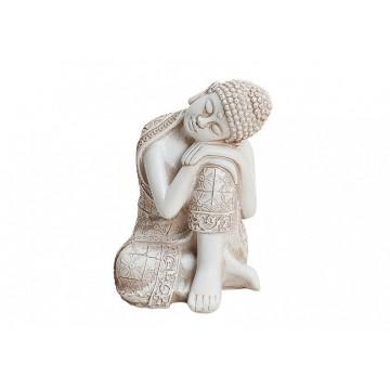 Sovende Buddha i hvid