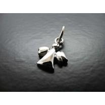 Skytengel vedhæng i sølv