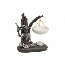 Aromalampe med Buddha og bambus