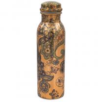Kobber flaske med Paisley mønster
