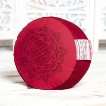 Meditationspude - Hibiscus/Rød
