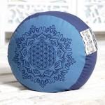 Meditationspude - Livets blomst - ocean blå