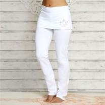 Yoga buks med ombuk hvid