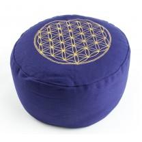 Meditationspude - Livets blomst - Lilla