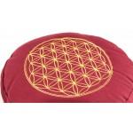 Meditationspude - Livets blomst - Rød