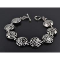 Livetsblomst armbånd i sølv