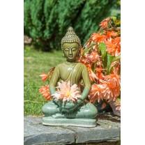 Keramik Buddha - Grøn