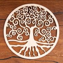 Livets træ i træ 18cm