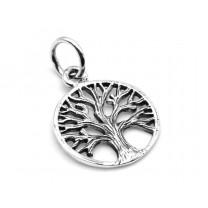Livets træ vedhæng i sølv 13mm