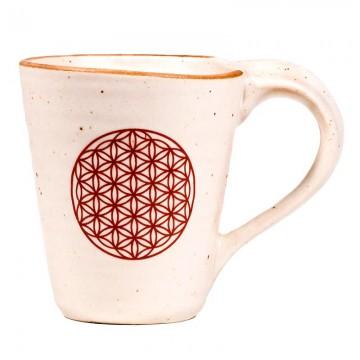 Te- og kaffekrus med livets blomst