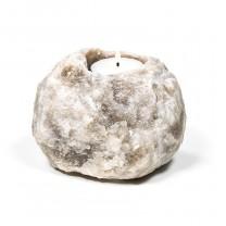 Salt krystal fyrfadsstage grå