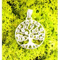 Livets træ vedhæng 925 sølv 20mm
