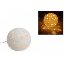 Bordlampe rund i porcelæn