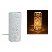 Bordlampe cylinder i porcelæn
