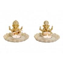 To Ganesha lysestager
