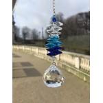 Univers krystal blå