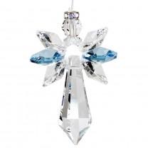 Swarovski krystal engel lyseblå