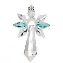 Swarovski krystal engel i tyrkis