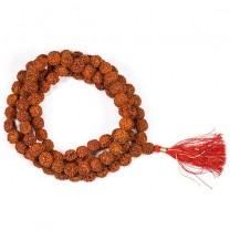Mala Rudraksha med rød kvast