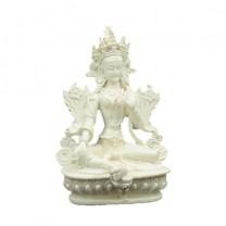 Grøn Tara figur hvid
