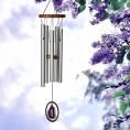 Vindklokke m. lilla agat
