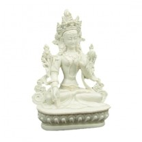 Hvid Tara figur